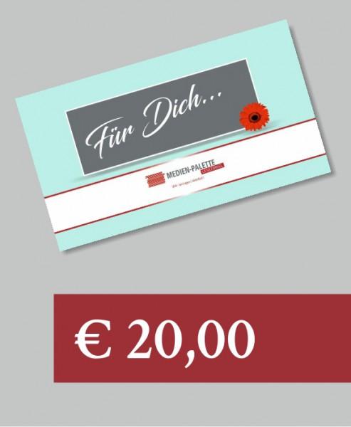 """Geschenkgutschen blau """"Für Dich"""" 25 €"""