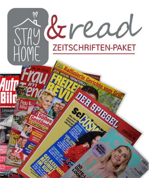 """stay home and read""-Zeitschriftenpaket"