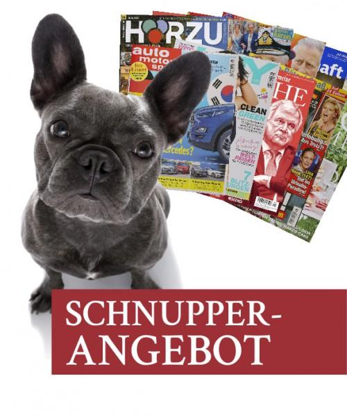 Schnupperangebot - 12 Zeitschriften, 4 Wochen, 8 €