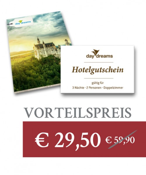 Super-Deal: daydreams Hotelgutschein
